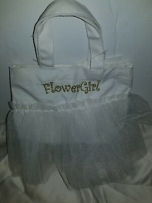 Perfect Flower Girl Personalized Canvas Tote Bag Wedding Gift Q66805