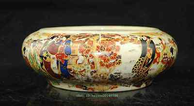 Chinese Old Porcelain Handwork Painting Belle Ashtray