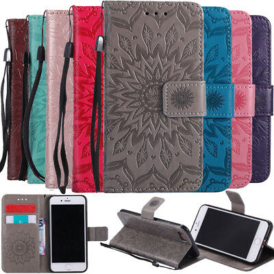For Samsung Galaxy Phone Shockproof Flip Stand Card Wallet PU Leather Case Cover