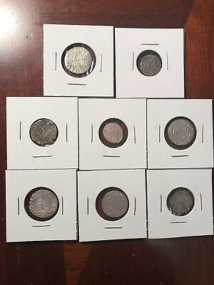 Lot Of 8 Mix Ancient Medieval Silver Coins