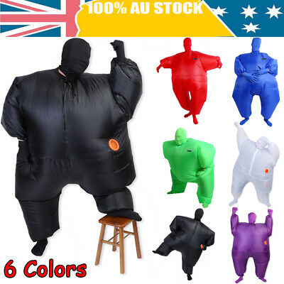 Fan Operated Inflatable Fancy Chub Fat Masked Suit Costume Blow Up Dress AU SHIP