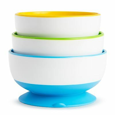 Stay Put Suction Bowl 3 Count Strong Base Dishwasher Safe For Baby Feeding