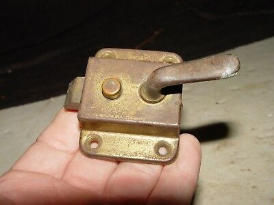 Estate Vintage  Antique Brass Cabinet Cupboard Door Latch Hardware Part