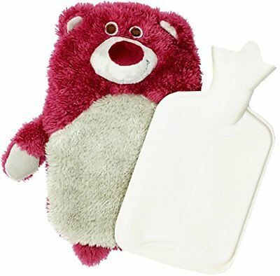 Hot Water Bottle Bear ~ Baby Kids Hand Foot Warmer Hot Water Bag With Pink St...