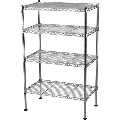 "Muscle Rack 20""""W x 12""""D x 32"""" Four-Level Wire Shelving Shelf Storage Cabinet"
