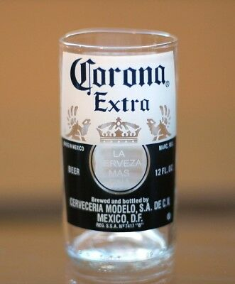 YAVA Glass - Upcycled Collectible CORONA EXTRA Beer Bottle Glass