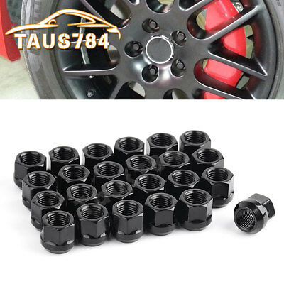 24 Chrome Steel Lug Nuts 14x1.5 Open End Bulge Acorn for Chevrolet Jeep Ford GMC