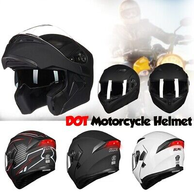 ILM DOT Motorcycle Helmet Dual Visor Modular Flip up Full Face Moto Helmet Gifts