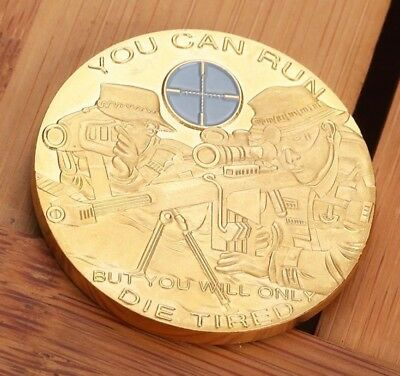 Best Junk Drawer Exquisite Gold Sniper Gold Plated Commemorative Novelty ArtCoin