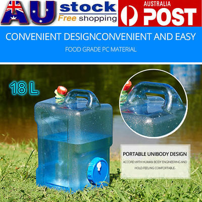Water Storage Container Can 18L Litre Carrier Tap Food Grade Travel Camping AU