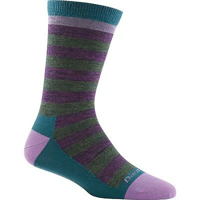 Darn Tough Vermont Women's Good Witch Crew Light Poppy Plum Medium (7.5-9.5)