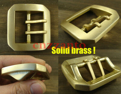Heavy duty Solid Brass Classical Tongue double Pin buckles Hippie Belt Buckle