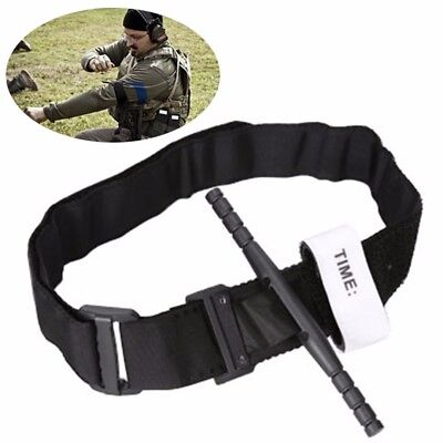 Black Tourniquet Buckle First Aid Medical Tool For Emergency Injury One handed