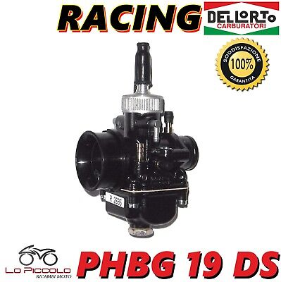 R2695 Carburatore Phbg 19 Ds Dell'orto Nero Racing Black Edition Con Miscelatore