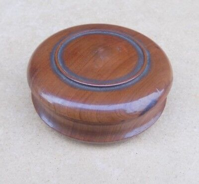 Treen Wooden Box containing Numerous Counters
