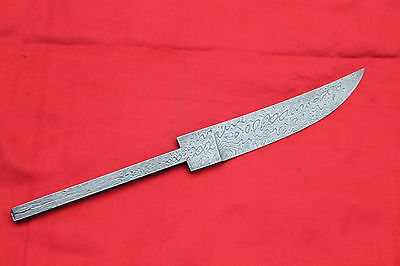 beautiful small fine random damascus steel viking blank blade for making knife 4