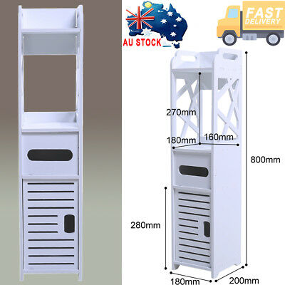 Bathroom Furniture Toilet Storage Cabinet Laundry Cupboard Tall Space Saver
