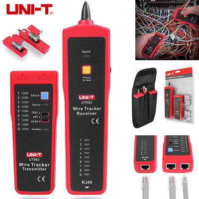UNI-T UT682 Handled Telephone Phone Network Cable LAN Line Wire Tracker Tester