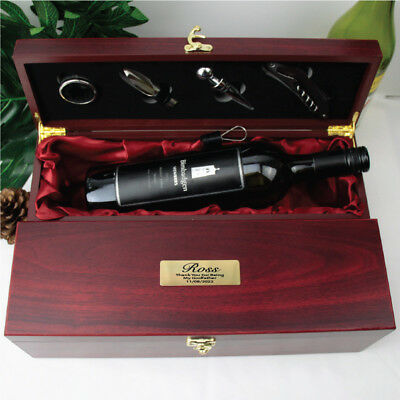 Personalised Rosewood Godfather Wine Box Gift - Made to Order
