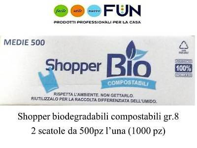 Shopper Biodegradabili Compostabili Media Gr.8 Pz.1000