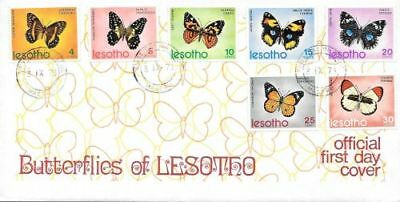 Lesotho 1973 Butterflies first day cover very fine
