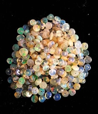 Natural Ethiopian Welo Fire Loose Opal Beads 50 pcs 3 To 3.5MM Drill Beads O200