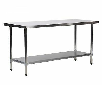 "New ""24"" x 72"" Stainless Steel Kitchen Work Table Commercial Kitchen Restaurant"