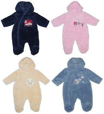 Baby Boy Girl All in One Snowsuit Lightweight Hood Newborn to 6 Months