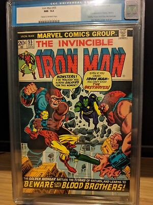 Iron Man #55 (Feb 1973, Marvel) 1st appearance Thanos! Crack & Press Candidate