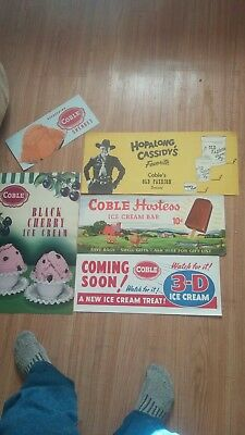 Coble dairy ads(5), vintage lithographs