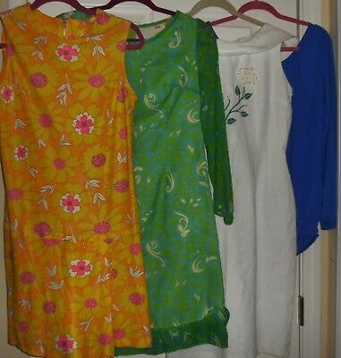 Lot of Vintage Boho Psychedelic Retro Dresses Bodysuit for Resale or Other Sz S