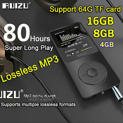 16GB 8G RUIZU X02 Sport Mini Lossless HIFI MP3 Music Player Recorder FM Radio AT