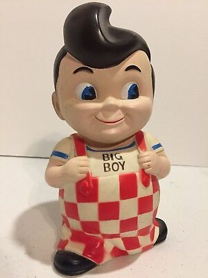 "Vintage Big Boy Plastic Bank 8-1/2"" Niagara Plastics Erie PA"