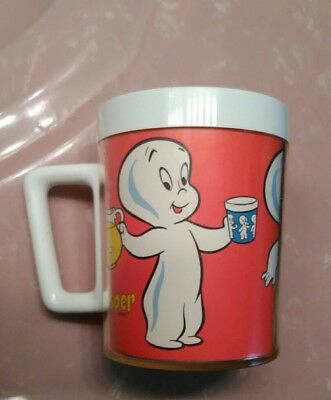 Vintage Casper The Friendly Ghost Red Mug- Harvey Cartoons - 1960's Issue RARE!