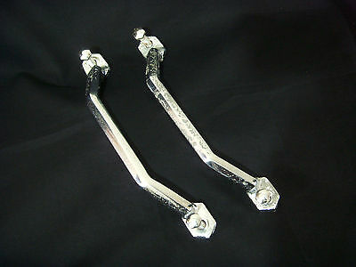 Vintage c1930s Art Deco Faceted Chromed Aluminium Bath Handles - For Restoration