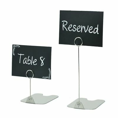 PACK 10 20 Price ticket holder stand food display deli counter stainless steel