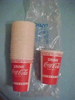 lot  23 nos vintage advertising dixie cold cups cup  coke coca cola 3 3/4 in