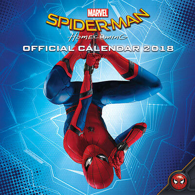 Spider-Man Homecoming Monthly Calendar 2018 Marvel Comics Superhéroe Oficial