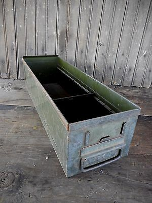 Vintage Metal Box Drawer Storage Industrial Rustic Primitive Farm Garden #6