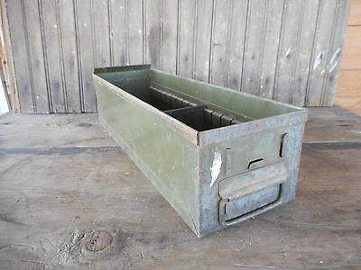 Vintage Metal Box Drawer Storage Industrial Rustic Primitive Farm Garden #2