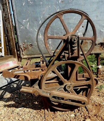 Steampunk Cast Iron Windmill Water Pump Jack Cherokee, Ia Primitive Farm Fresh