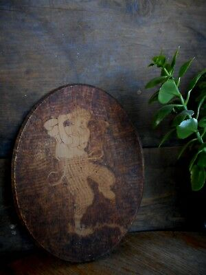 Vintage Carved Wood Wall Hanging Folk Art Old Golfer Kitsch Golf Scot Hoot Mon