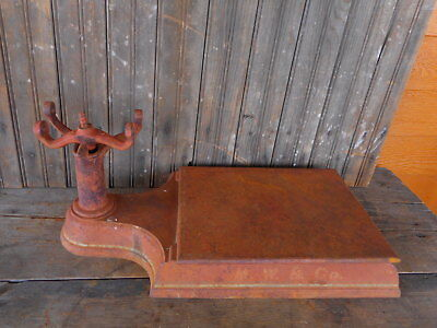 Salvaged for parts Antique Cast Iron Scale Platform Country Store incomplete