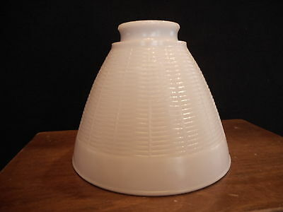Industrial Antique Vintage MILK GLASS DIFFUSE SHADE GLOBE for Lamp Light