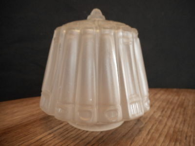 Frosted Antique glass Shade Light Fixture for restoration Used Vintage Country