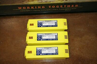 Lot of 3 Cardiac Science Powerheart AED G3 Battery 9146 - 102 202 302 - 25% LIFE