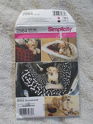 Simplicity 2984 Travel Accessories for Dogs Pattern New