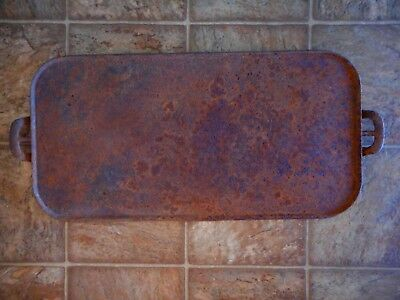 Antique Vintage WAGNER 23.5 inches long Griddle Large Very Pitted and rusty