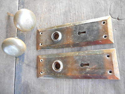 Door knobs Plates Antique Vintage Arts Craft Salvage Restoration Farmhouse
