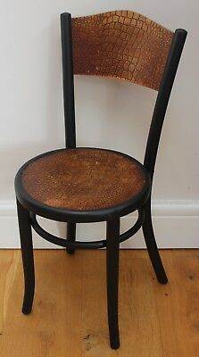 antique vintage fischel bentwood cafe bistro chair rare